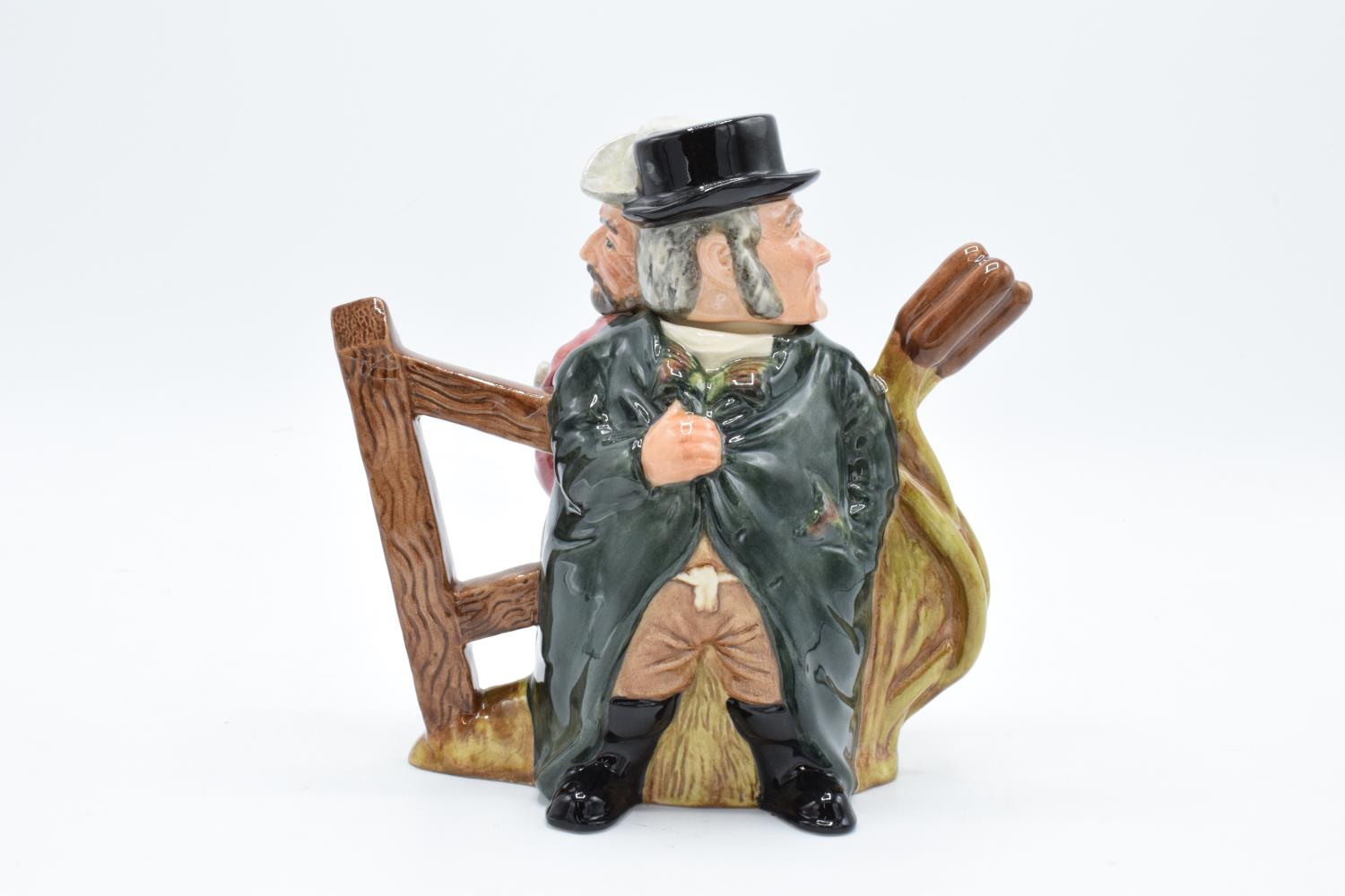 Royal Doulton Double sided character jug tea pot Gamekeeper and Poacher D7175, number 467 of 1500. - Image 2 of 3