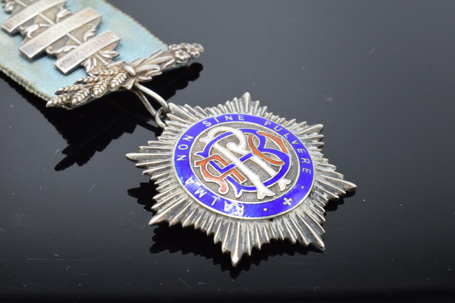 A silver medal and ribbon presented to Arthur J Thorne by the Royal Borough Lodge (GLE) Birmingham - Image 9 of 12