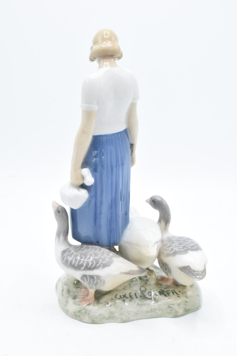 Bing and Grondahl figure Girl with Geese 2254 by Axel Locher. In good condition with no obvious - Image 2 of 3