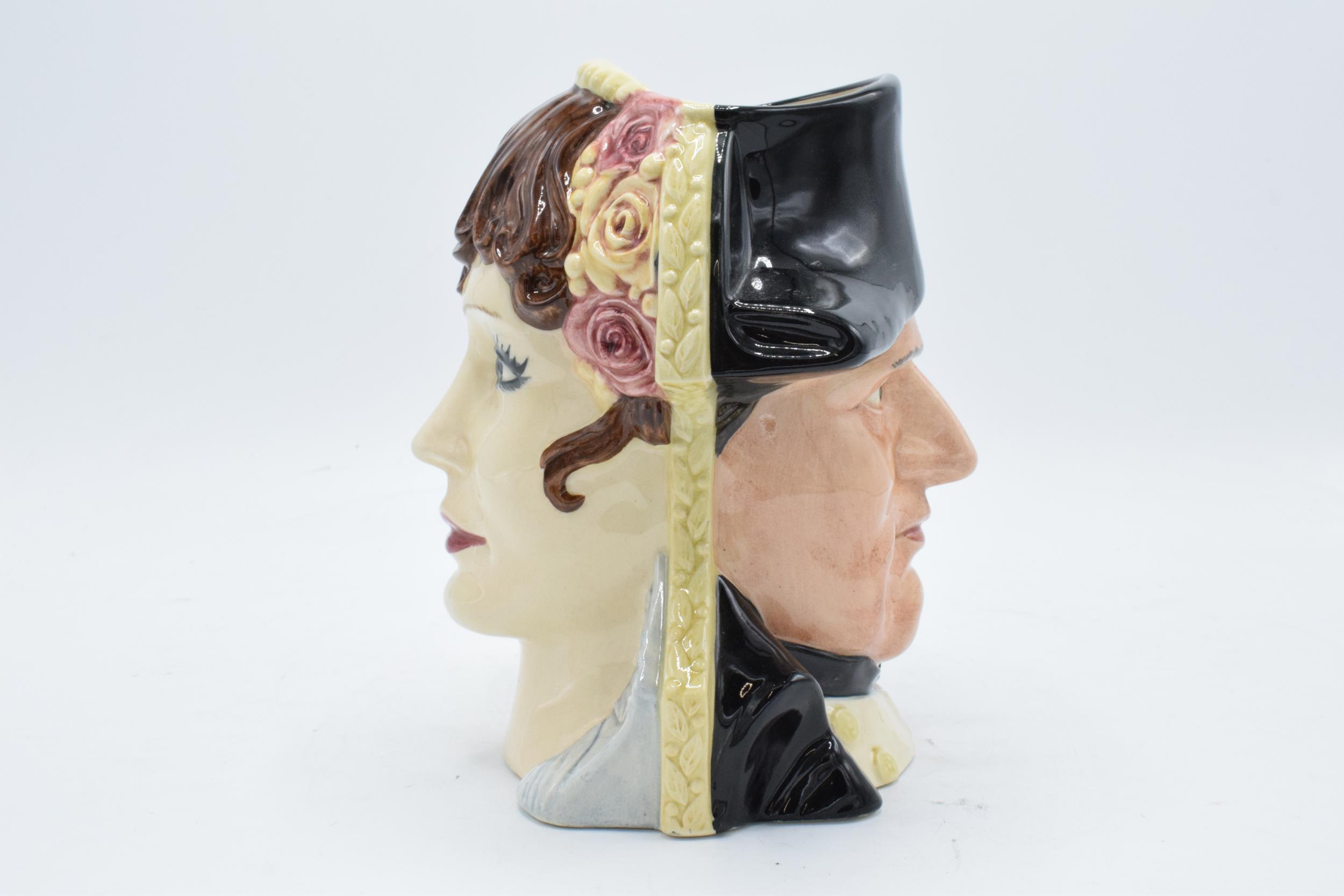 Large Royal Doulton double-sided character jug of Napoleon and Josephine D6750 4736/9500. In good