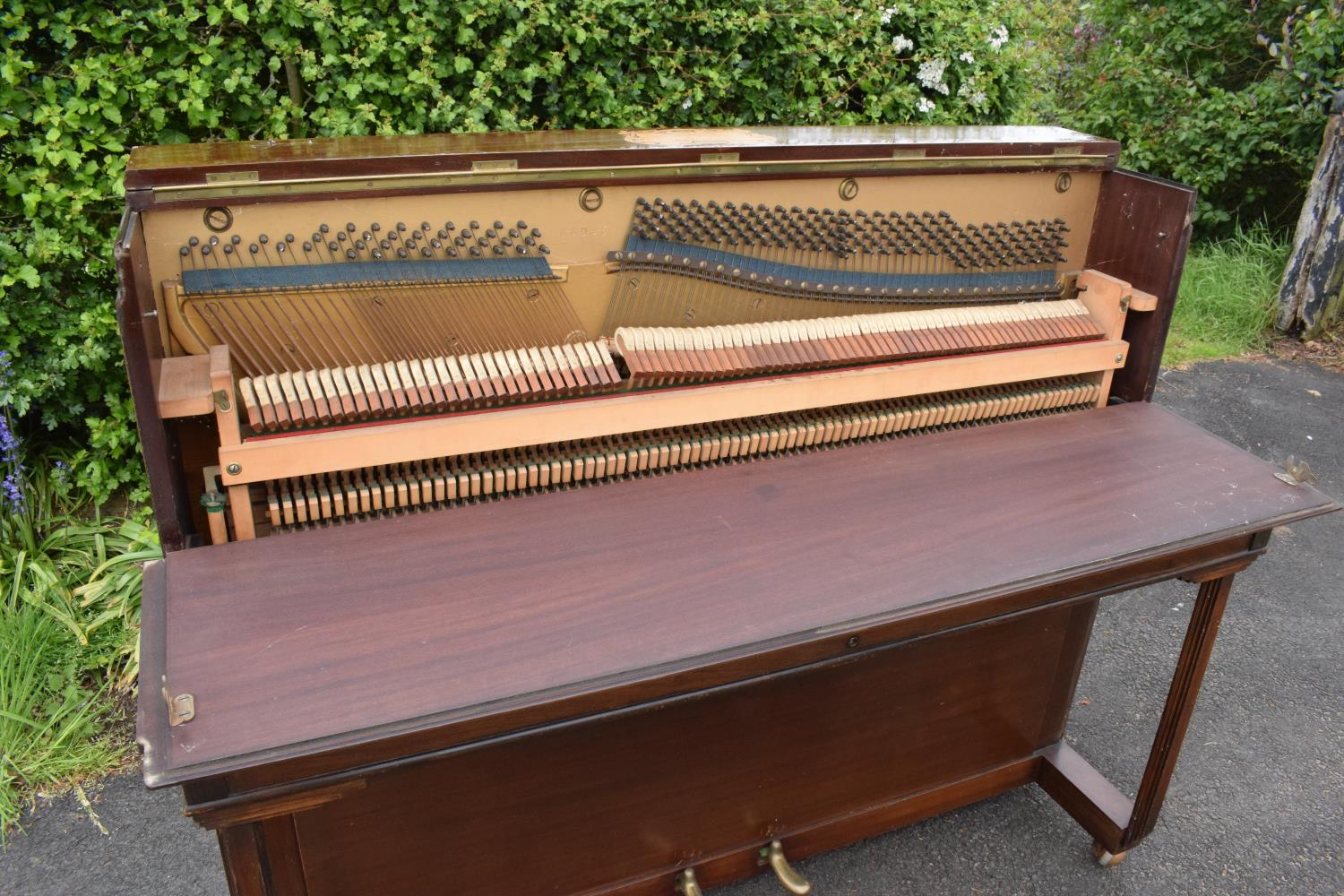 A Breedon and Middleton 'Mydleton' of 42 High Street Crewe upright wooden piano with 85 keys - Image 7 of 11