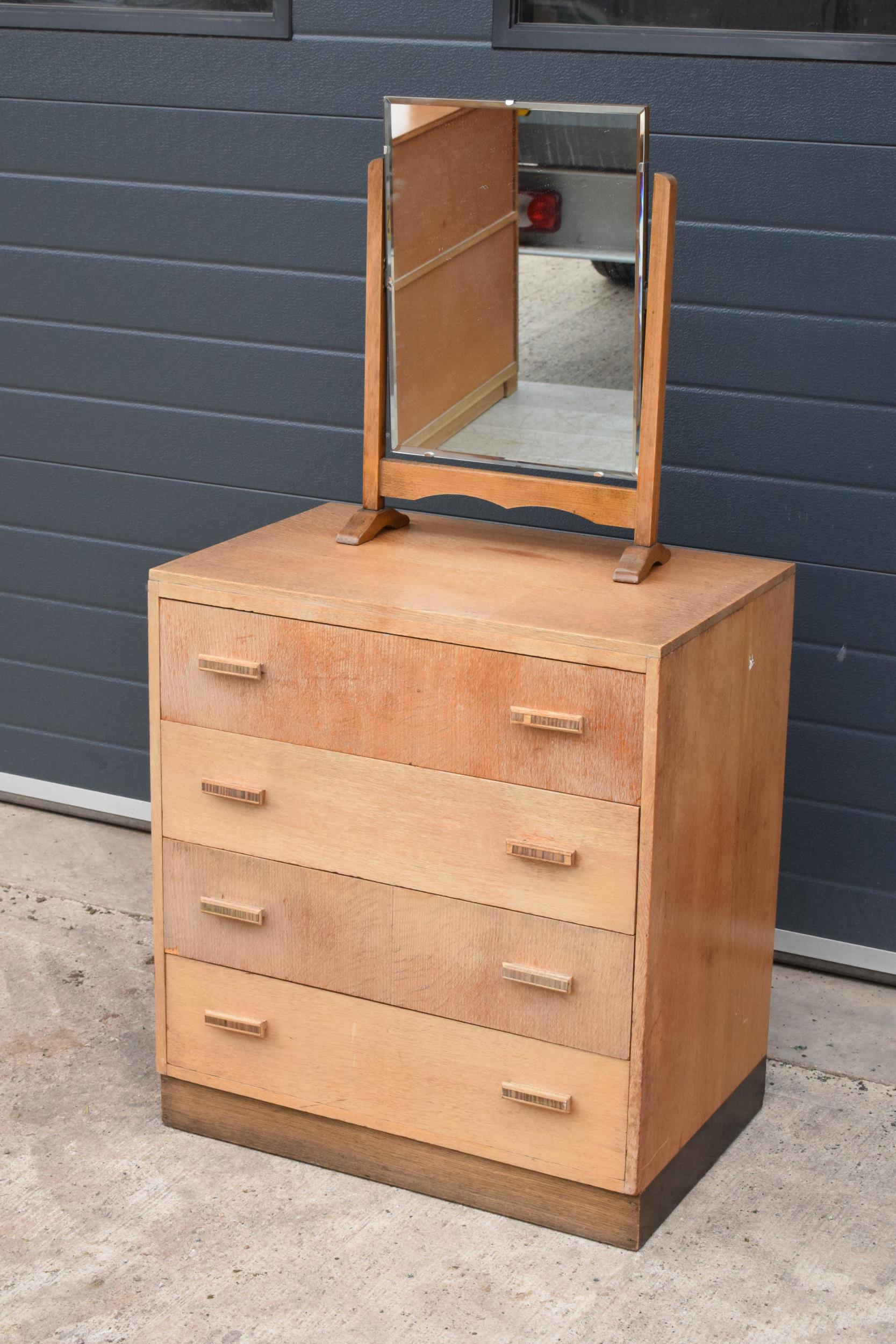 A mid century / retro Bowman Brothers Ltd of Camden Town chest of drawers together with an