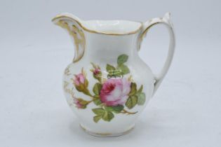 A late 19th century Staffordshire painted jug with 'Mary Ann Hardy' to front. 14cm tall. In good