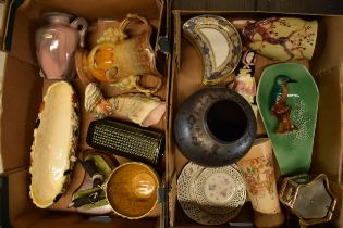 A mixed collection of 19th and 20th century pottery to include various makers such as Sylvac,