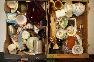 A large collection of items to include a silver 925 brooch, Copelands Grosvenor china cups, 20th