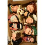 A mixed collection of Toby and character jugs to include Royal Doulton examples, Shorter and Son,