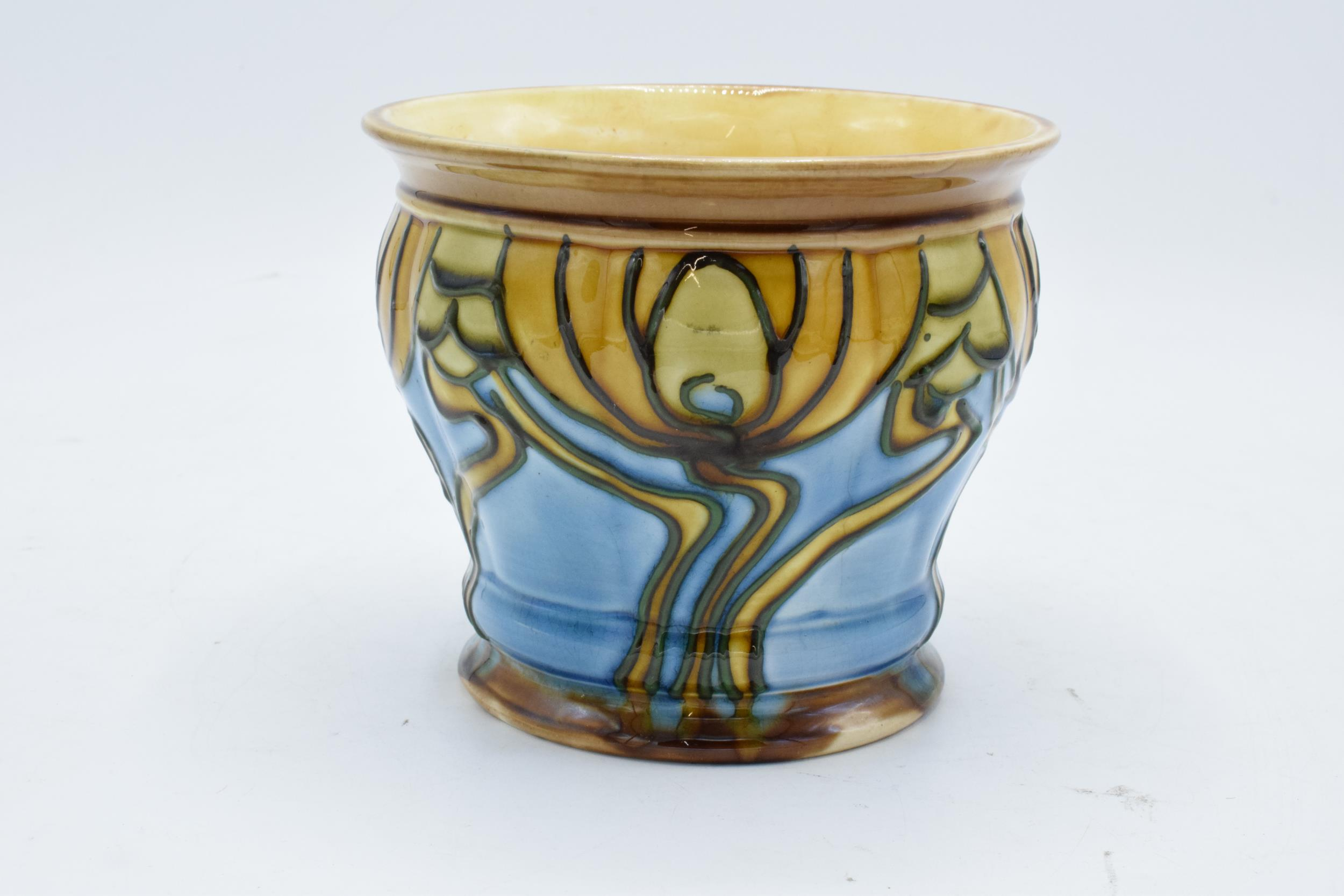 Minton Secessionist Jardinière with a stylised design 'No. 9'. 11cm tall. 12.5 diameter. Condition - Image 2 of 6
