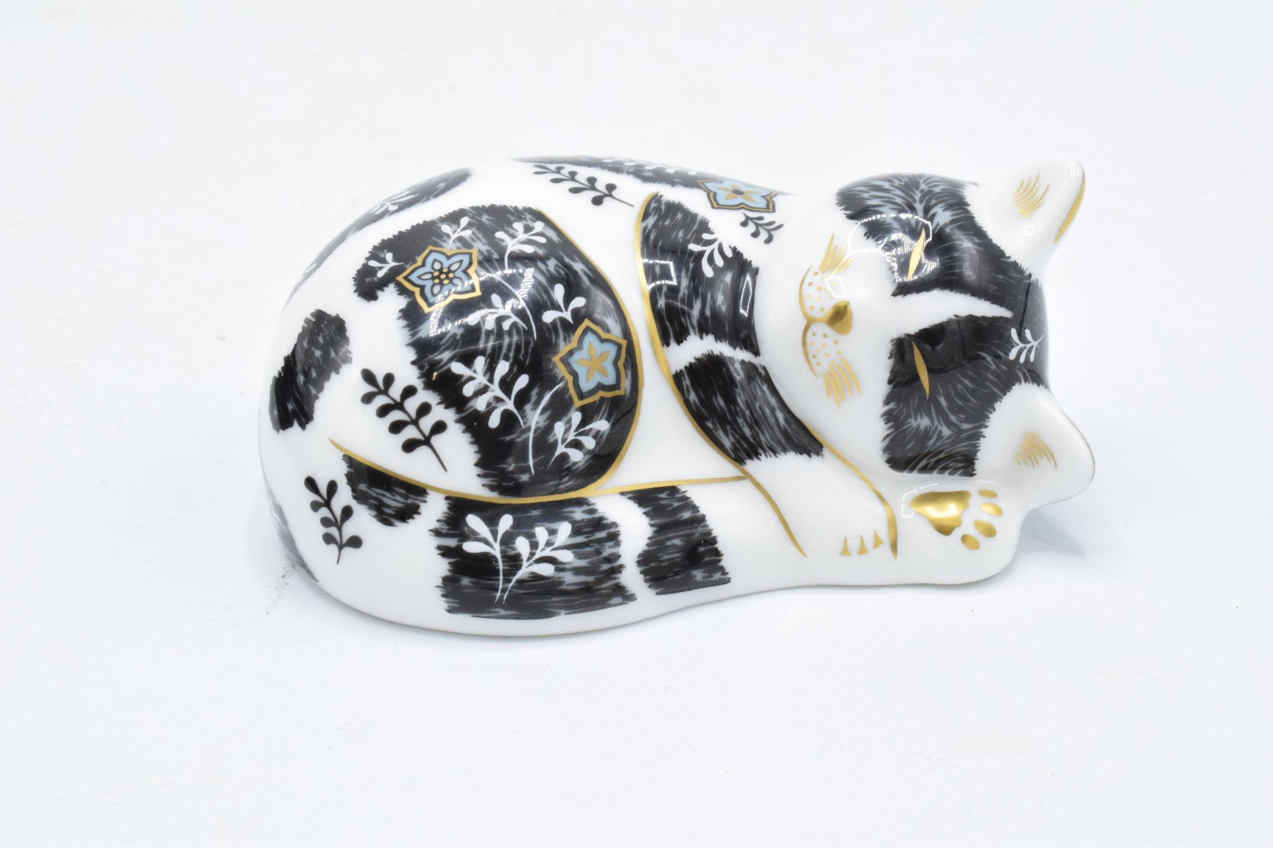 Boxed Royal Crown Derby paperweight in the form of Misty the Kitten. Exclusive for the RCD