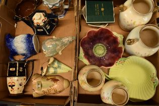 A mixed collection of 19th and 20th century pottery to include various makers such as Burleigh Ware,