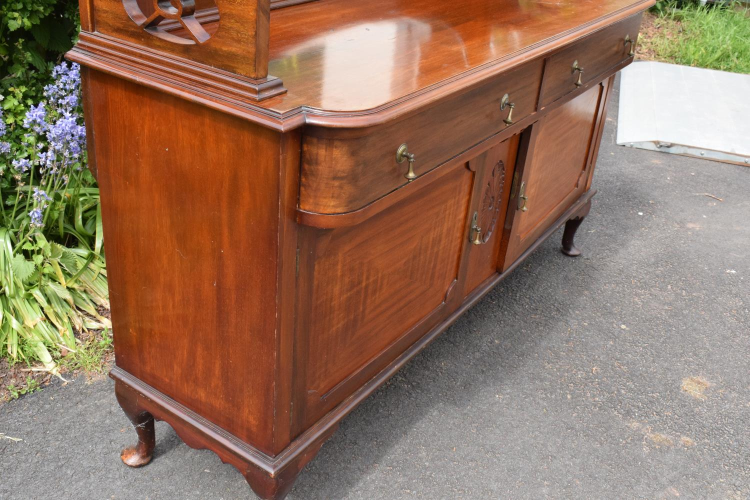 Edwardian mirror backed sideboard/ drinks cabinet. 168 x 56 x 183cm. The top section lifts off and - Image 6 of 11