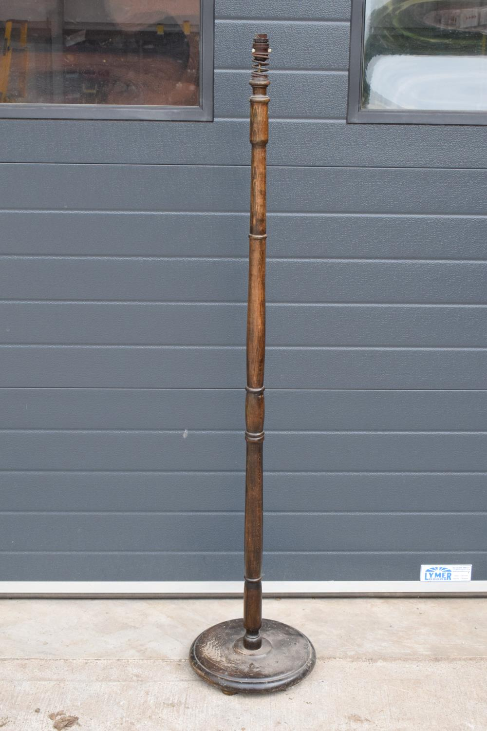 1930s free standing standard lampbase. 159cm tall. Untested. In good functional condition though