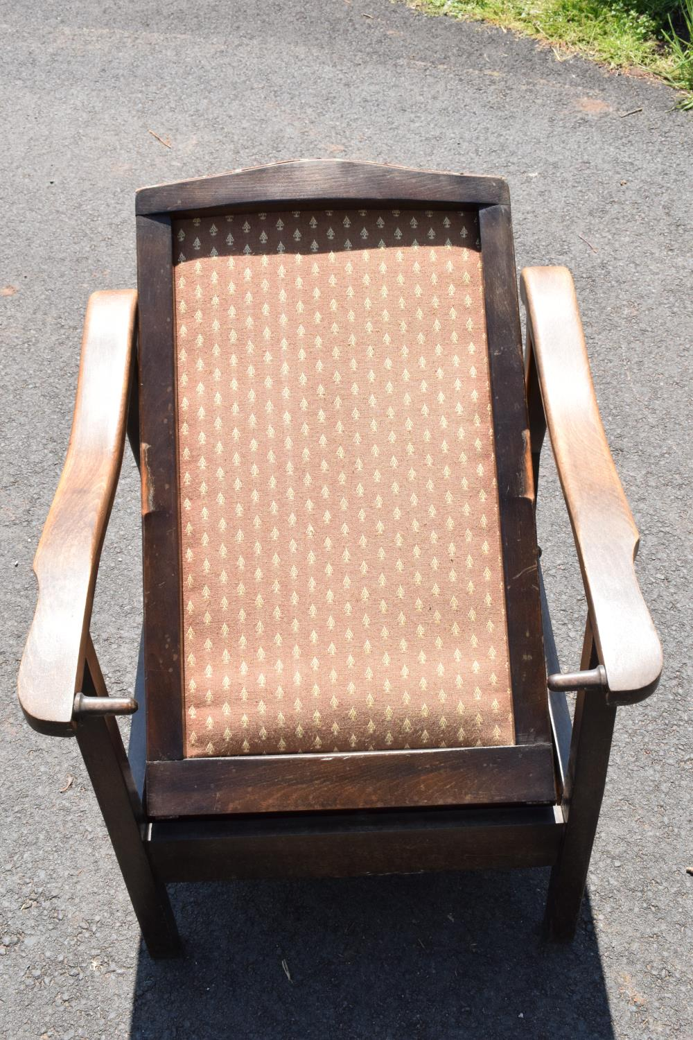 An early to mid 20th century adjustable/ sliding chair. 99cm tall. - Image 4 of 5