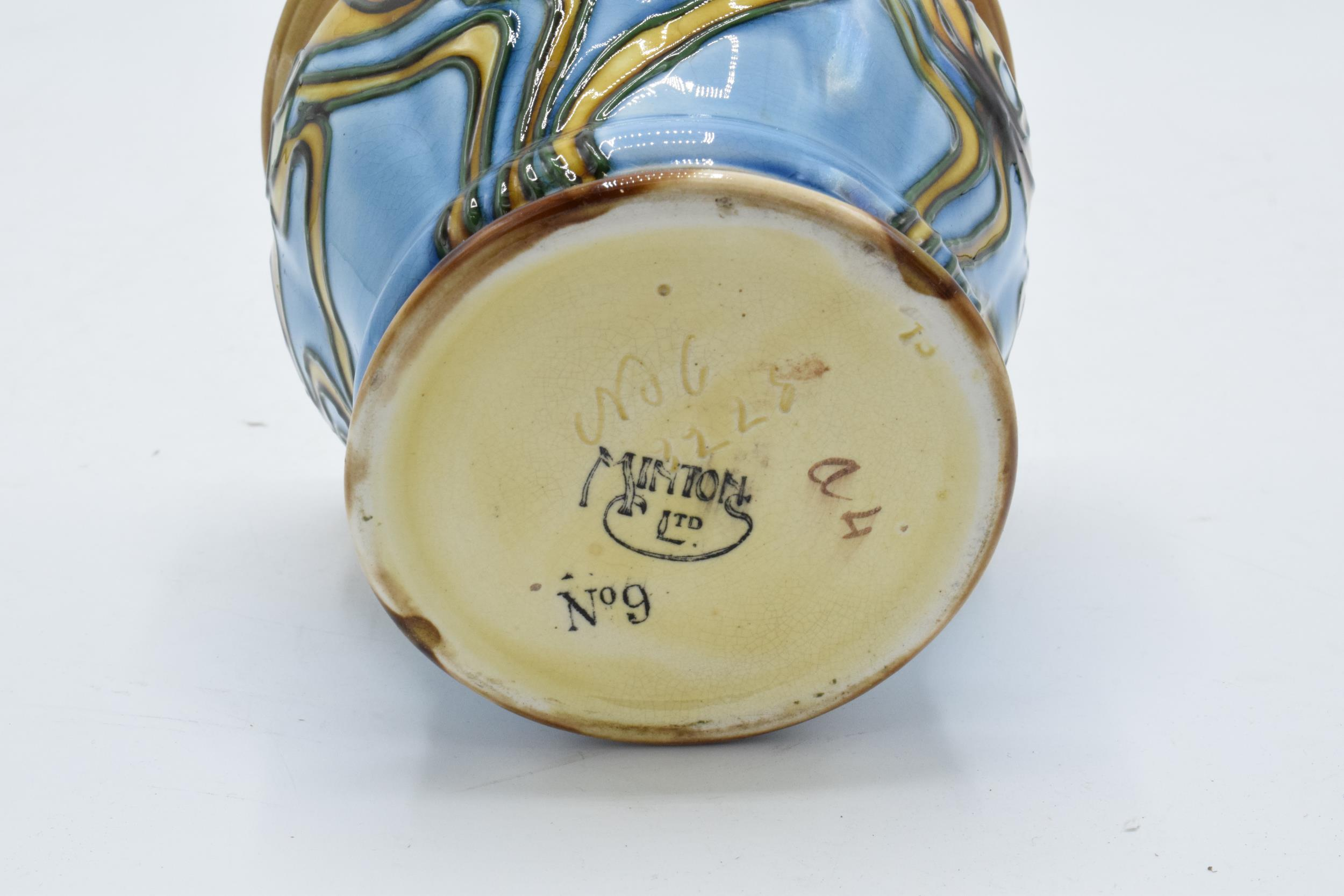 Minton Secessionist Jardinière with a stylised design 'No. 9'. 11cm tall. 12.5 diameter. Condition - Image 6 of 6
