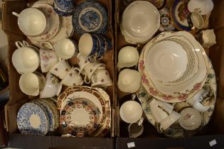 A mixed collection of 19th and 20th century pottery to include a Duchess part tea set, blue and