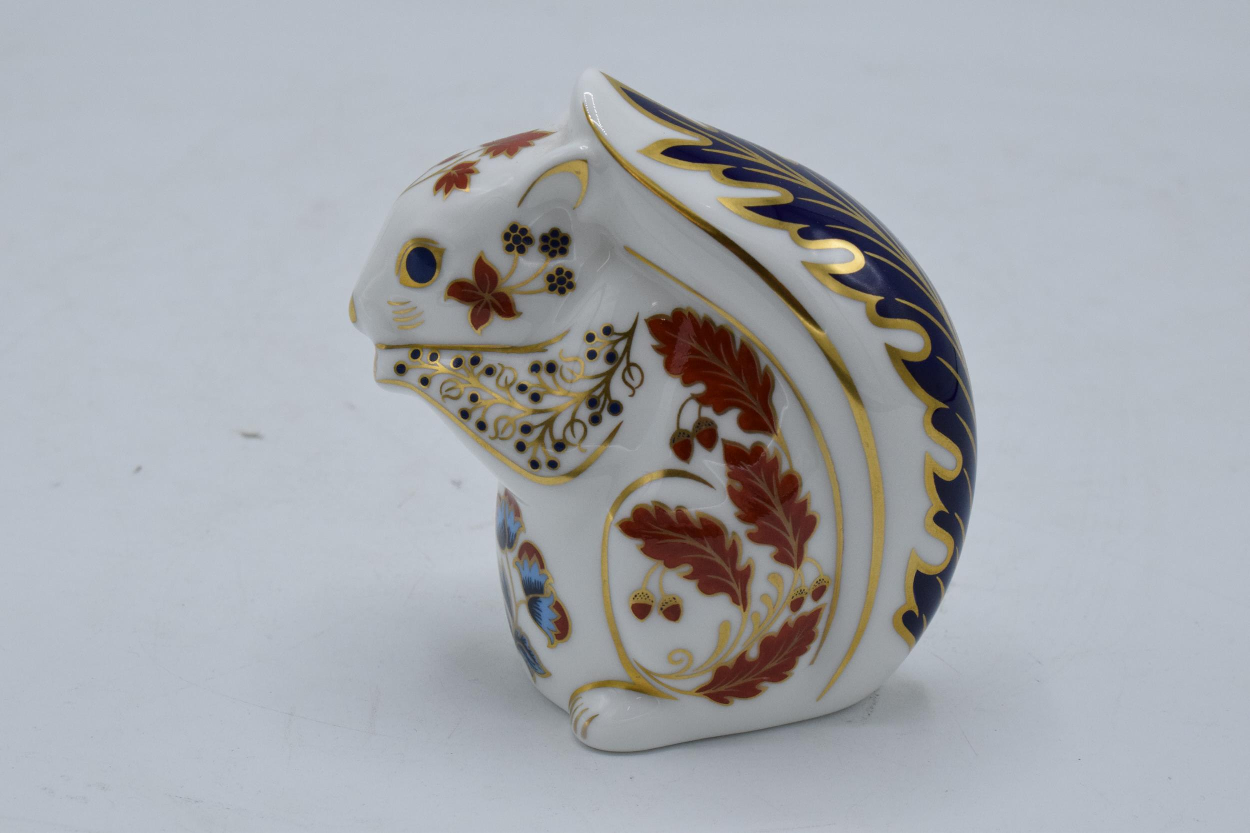 Boxed Royal Crown Derby paperweight in the form of a Squirrel. First quality with stopper. In good - Image 2 of 3