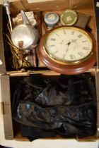 A mixed collection of items to include Wedgwood Jasperware, vintage 20th century tails, fireside