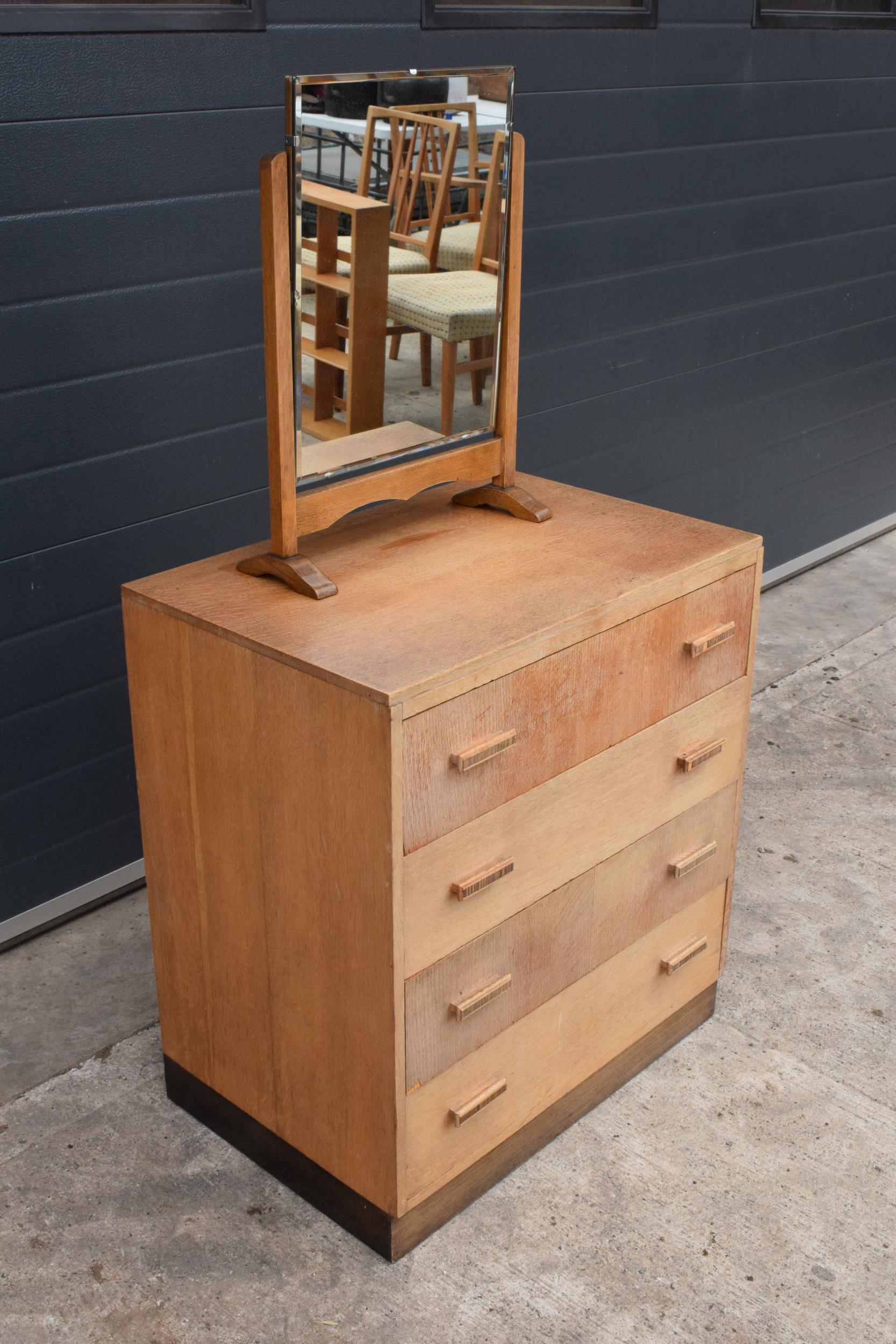 A mid century / retro Bowman Brothers Ltd of Camden Town chest of drawers together with an - Image 2 of 8