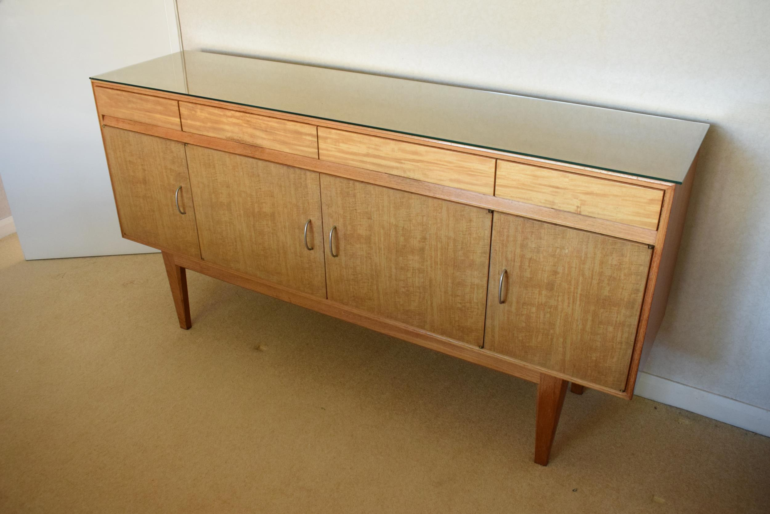 Gordon Rusell Limited four-door mid-century / retro sideboard on tapered legs with 4 drawers too. - Image 2 of 8