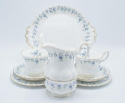 A collection of Royal Albert items in the Memory lane design to consist of 6 trios, milk jug,