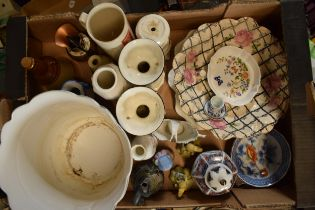 A mixed collection of pottery to include 20th century oriental items, pub advertising jugs, vases,