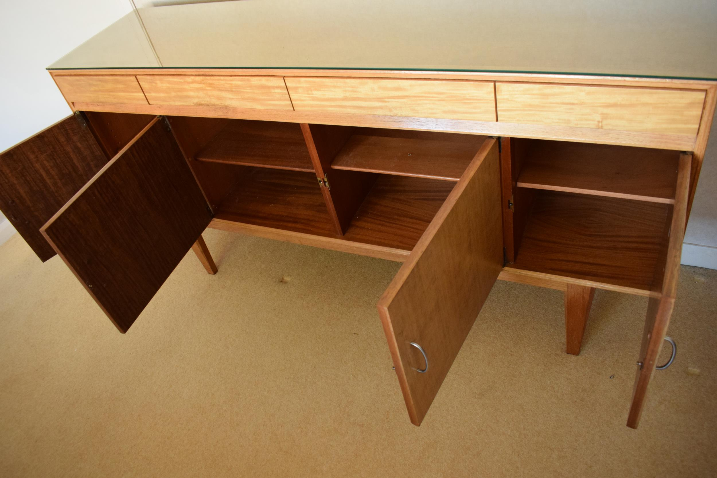 Gordon Rusell Limited four-door mid-century / retro sideboard on tapered legs with 4 drawers too. - Image 3 of 8