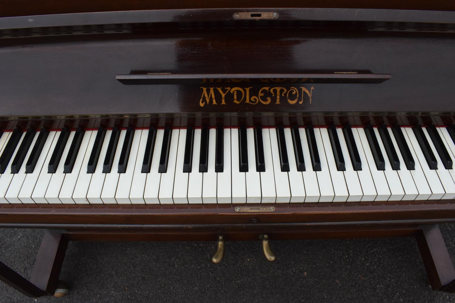A Breedon and Middleton 'Mydleton' of 42 High Street Crewe upright wooden piano with 85 keys - Image 5 of 11