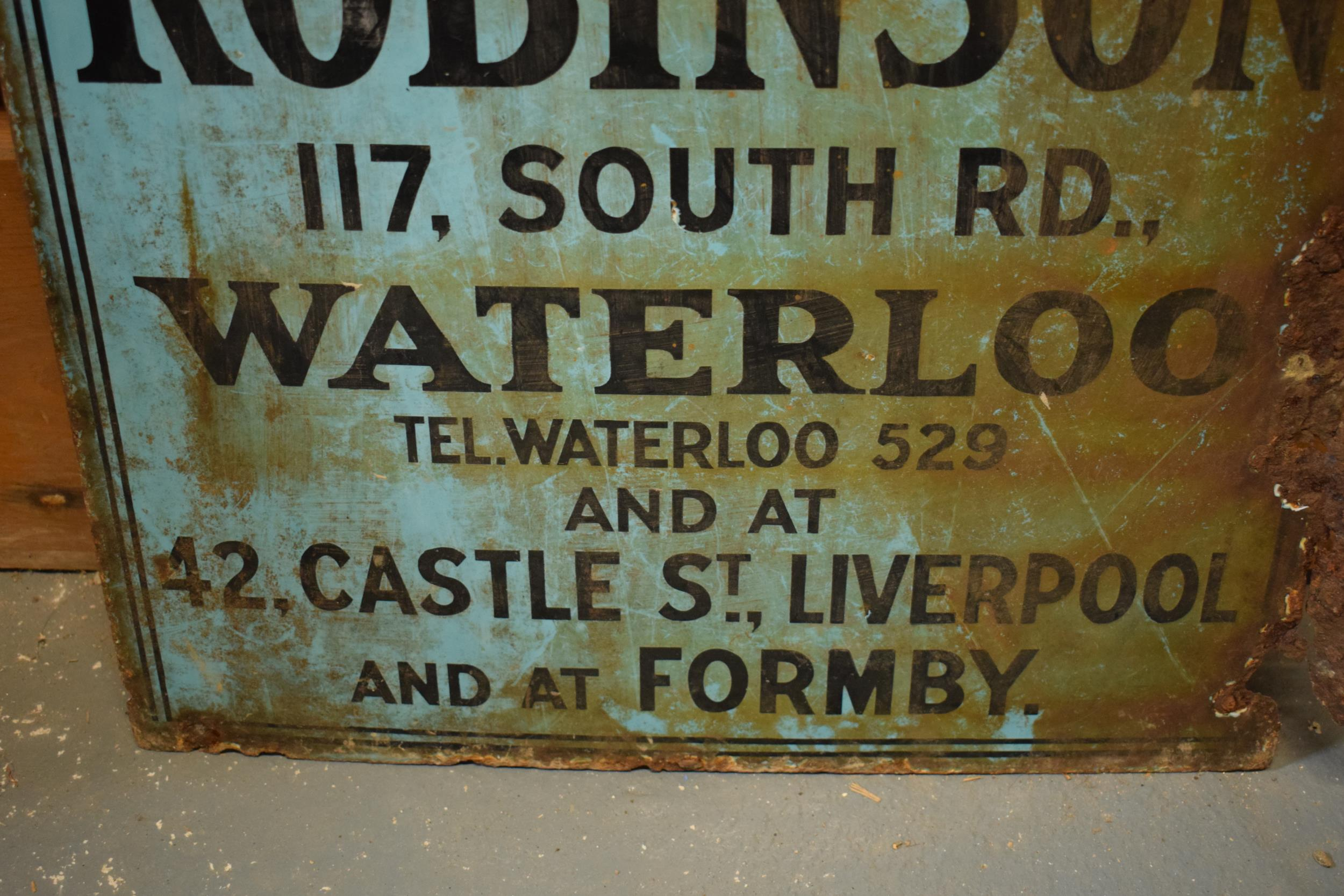 An original vintage double-sided enamel advertising sign for an H H and J Robinson estate agents. ' - Image 4 of 9