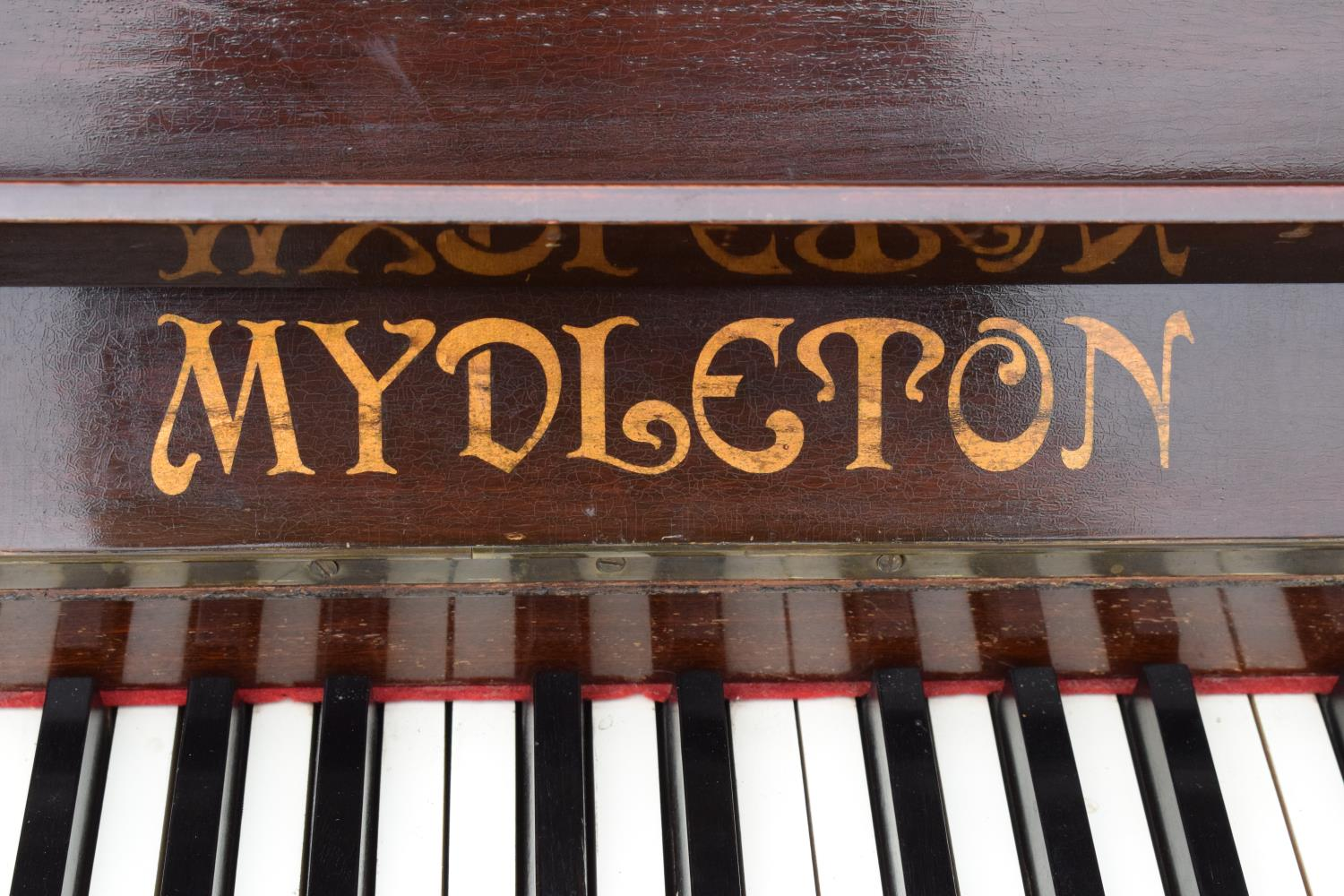 A Breedon and Middleton 'Mydleton' of 42 High Street Crewe upright wooden piano with 85 keys - Image 4 of 11