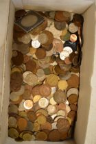 Tray lot of British and foreign coins c1900 and later