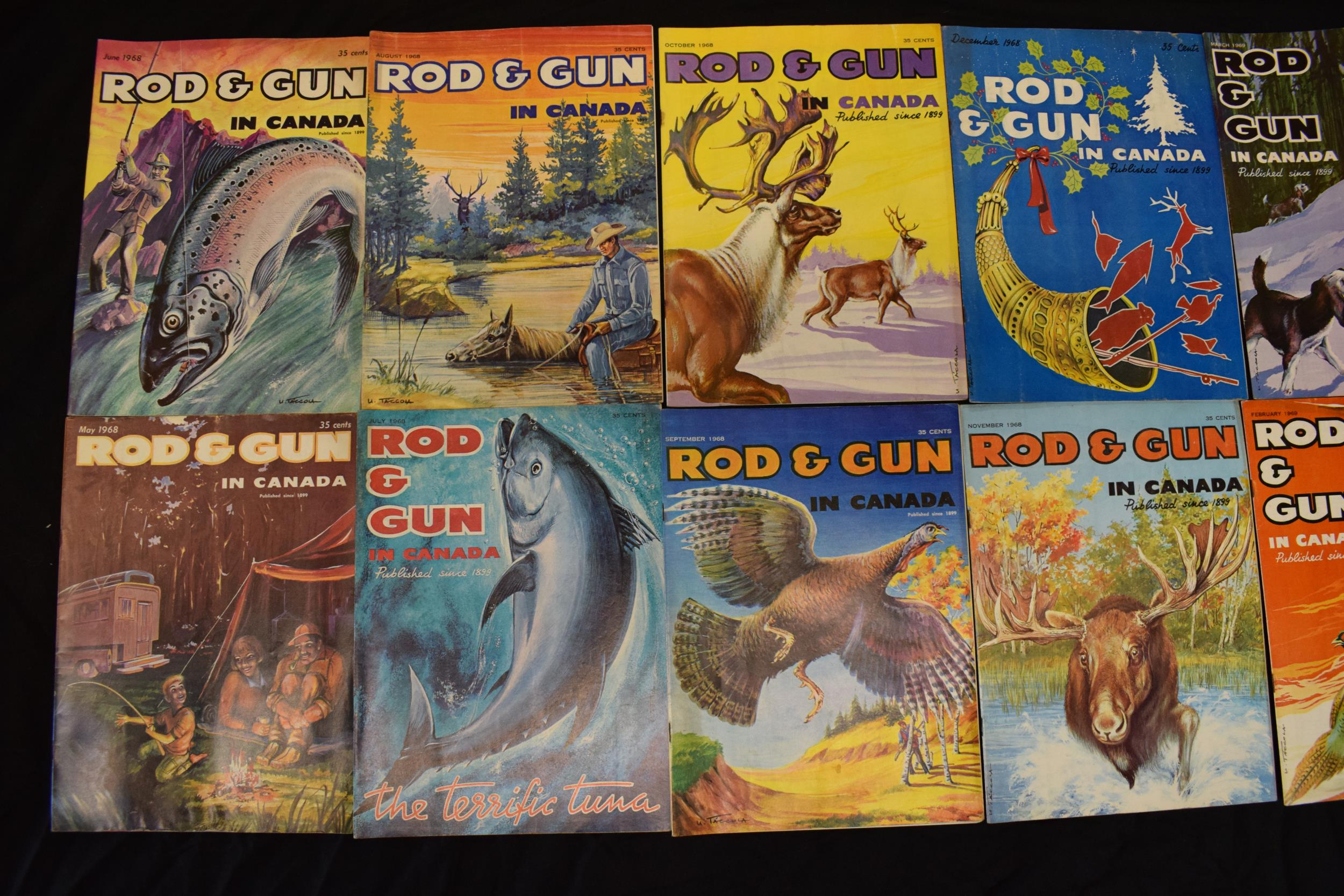 A collection of vintage 1960s 'Rod & Gun in Canada' magazines. Fishing and country sports - Image 2 of 4