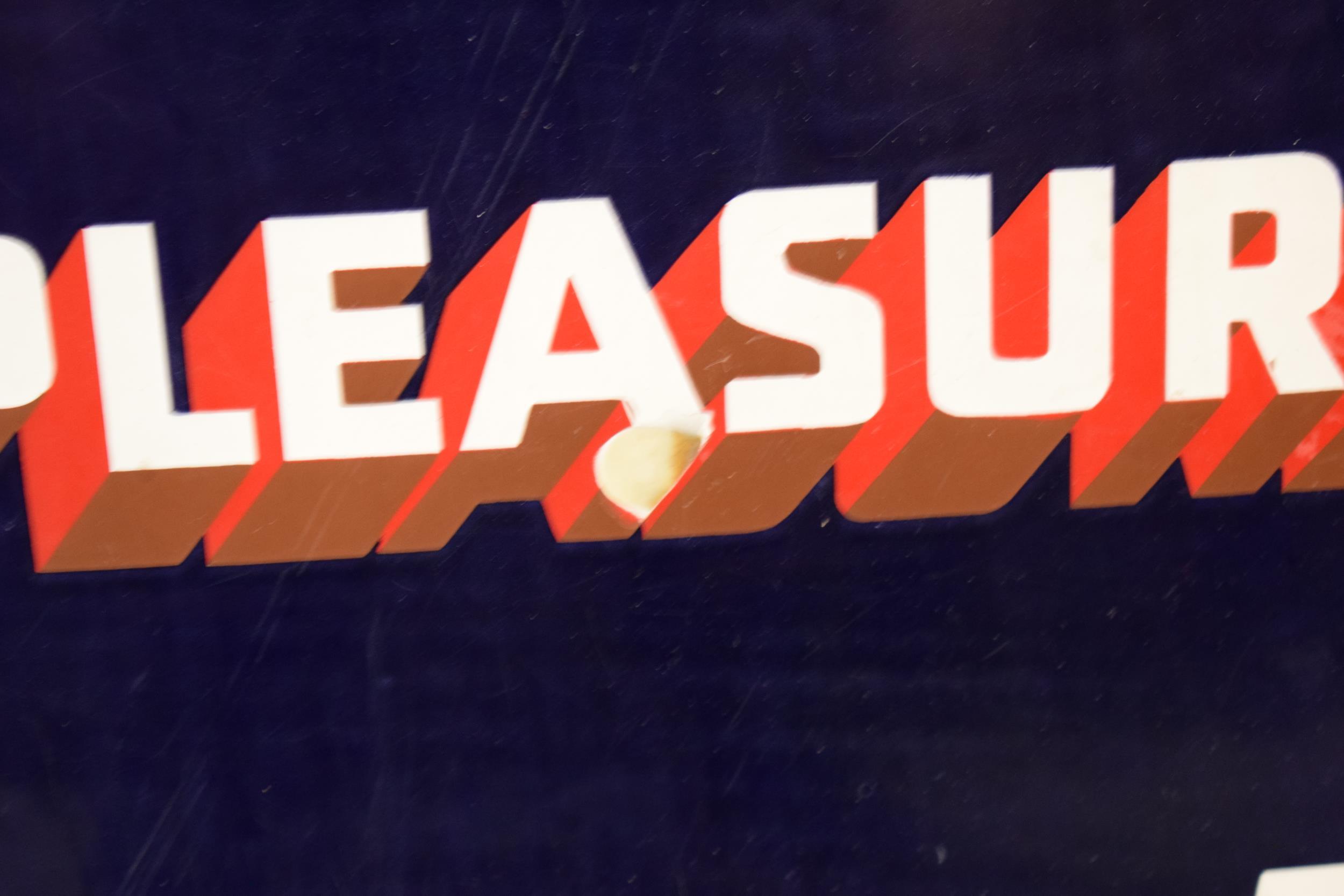 An original vintage enamel sign 'Park Drive For Pleasure, 10 for 4D, Plain or Cork Tip, 5 for 2D'. - Image 2 of 6