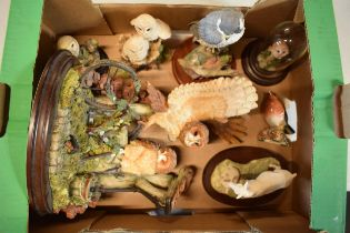 A collection of animal figures to include a Beswick Robin 980, Border Fine Arts 'Emily's Joy' JH84B,