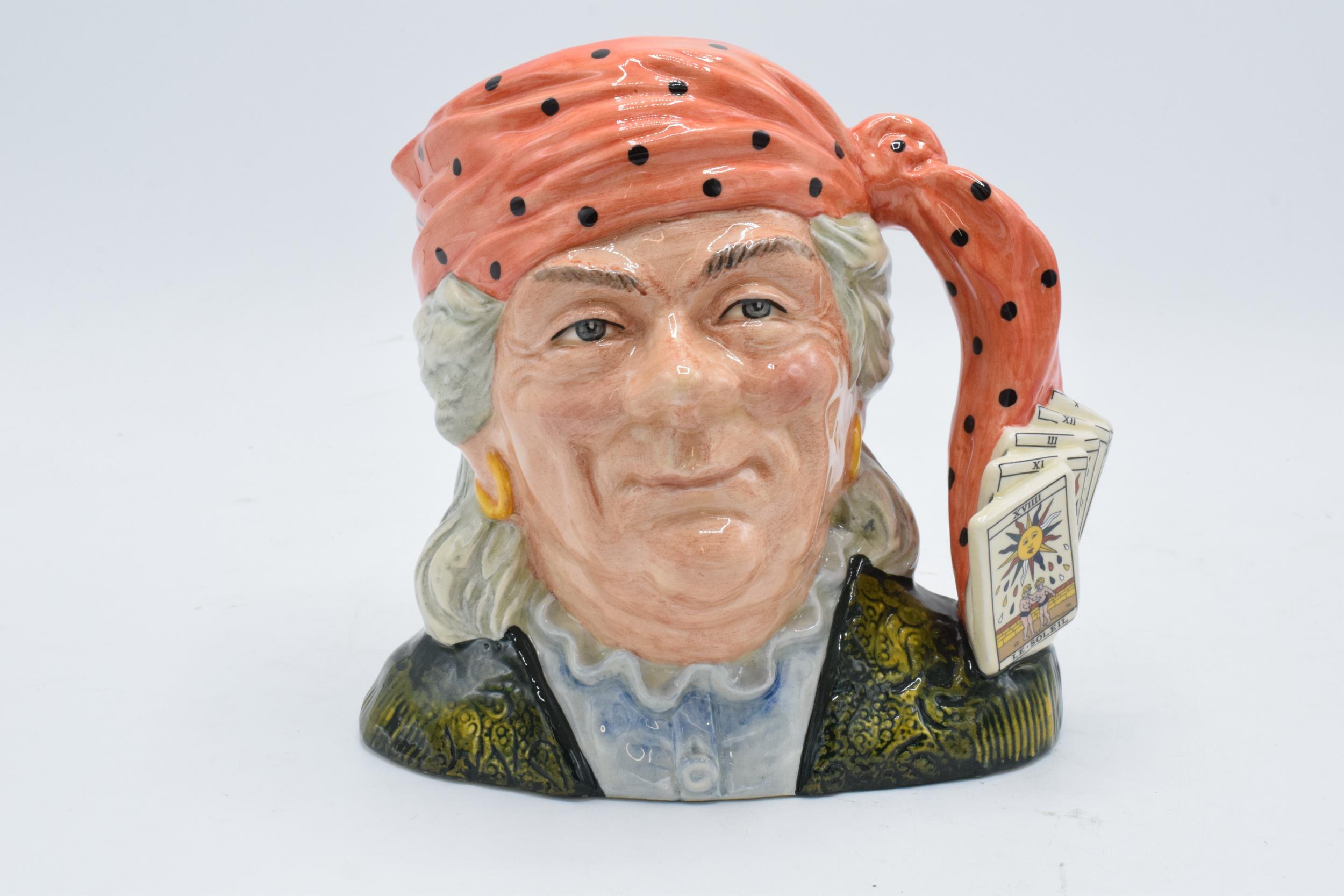 Large Royal Doulton Character Jug of the Year 1991 The Fortune Teller D6874. In good condition