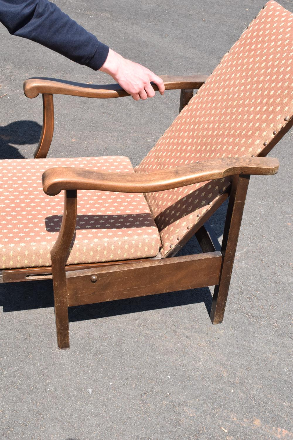 An early to mid 20th century adjustable/ sliding chair. 99cm tall. - Image 3 of 5