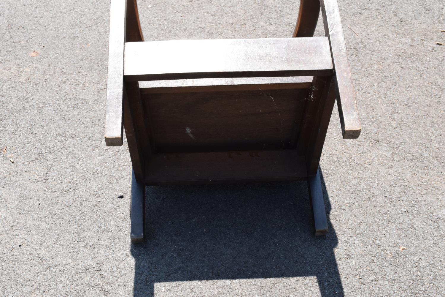 An early to mid 20th century adjustable/ sliding chair. 99cm tall. - Image 5 of 5