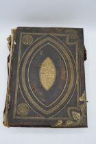 Brown's Self-interpreting leather bound Family Bible with brass fixings containing the Old and New