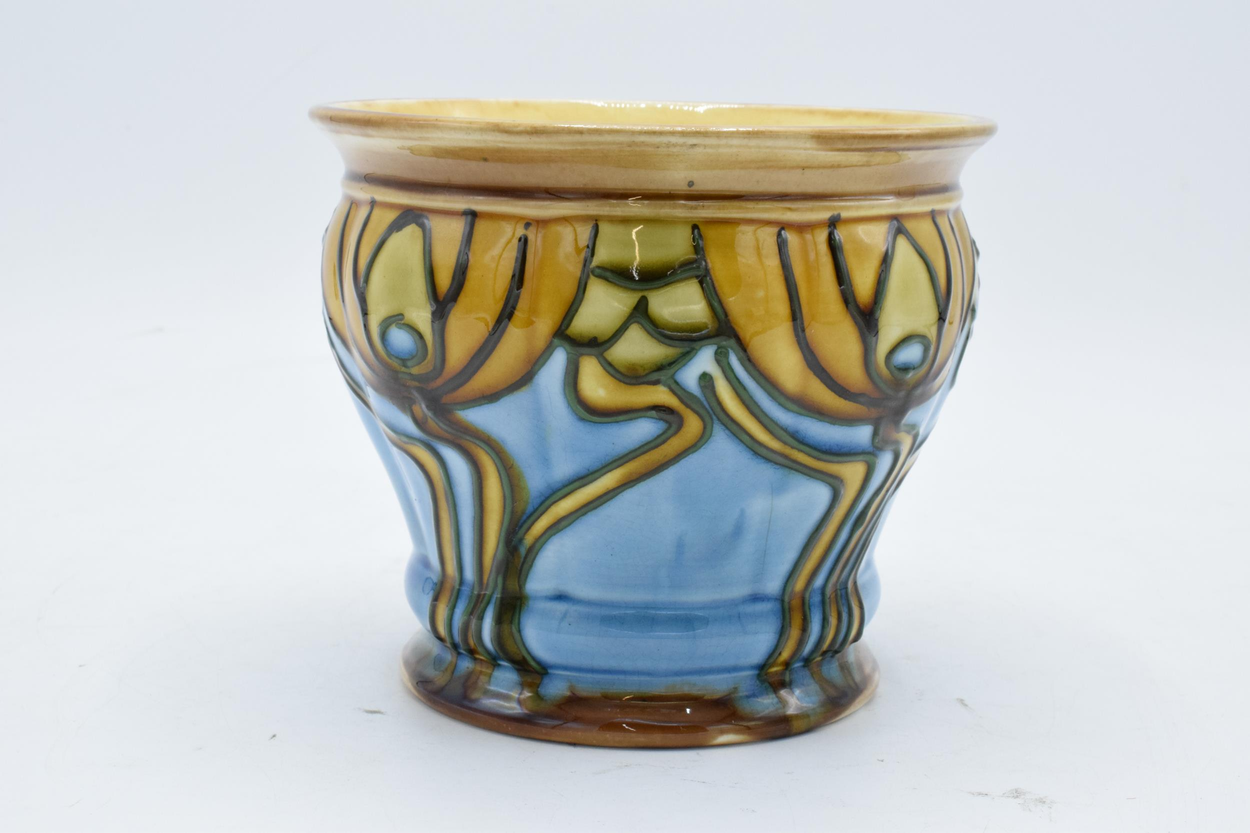 Minton Secessionist Jardinière with a stylised design 'No. 9'. 11cm tall. 12.5 diameter. Condition