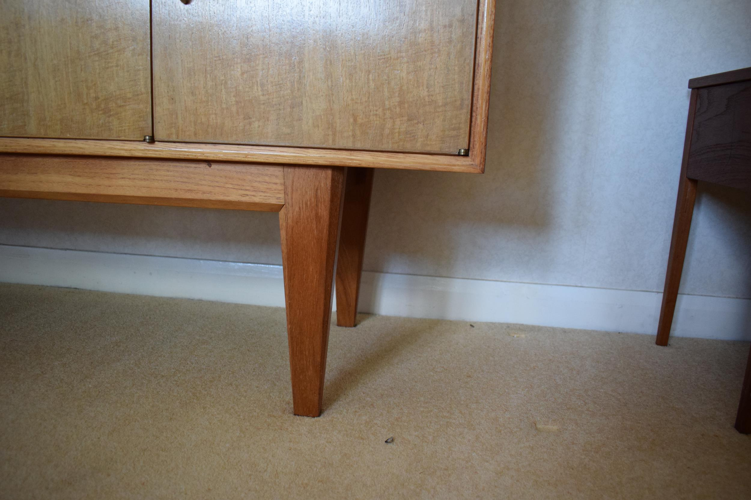 Gordon Rusell Limited four-door mid-century / retro sideboard on tapered legs with 4 drawers too. - Image 7 of 8