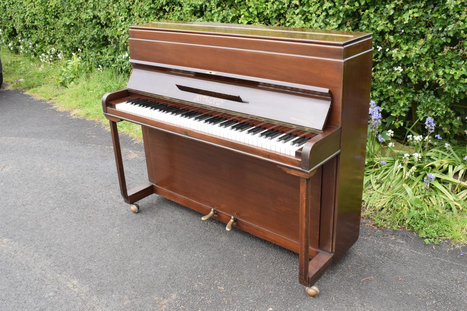 A Breedon and Middleton 'Mydleton' of 42 High Street Crewe upright wooden piano with 85 keys - Image 11 of 11