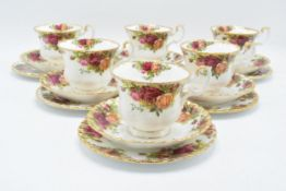 A collection of Royal Albert Old Country Roses items to include 6 trios (6 cups, 6 saucers, 6 sides)