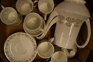 A collection of Paragon tea ware in the 'Fiona' pattern to include a coffee pot, 5 cups, 6 saucers