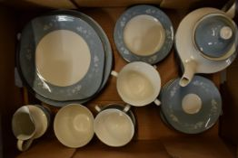 A collection of Royal Doulton Reflection T.C.1008 tea ware to include 5 cups, 6 saucers, 6 sides,
