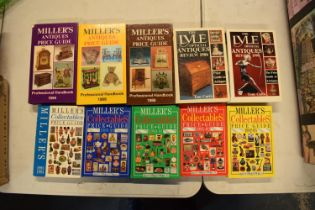 A collection of antiques reference books to include Millers and Lyles (10)