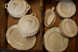 A collection of Royal Doulton dinnerware in the Richelieu design to include 2 lidded tureens,