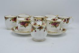 A collection of Royal Albert Old Country Roses items to include 2 breakfast cups and saucers, 5 mugs