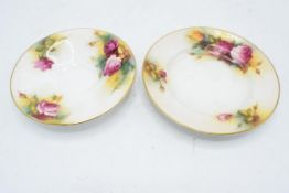 A collection of Royal Worcester items to include a saucer (1936) and side plate (1938) decorated