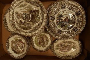 A collection of Johnson Brothers tea and dinner ware in the Heritage Hall and Olde Country Castles