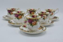 A collection of Royal Albert Old Country Roses items to include 6 coffee cups and saucers (12). In