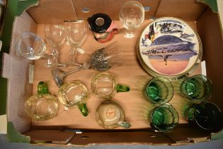 A mixed collection of items to include a Royal Selangor pewter wine glass, Doulton decanter