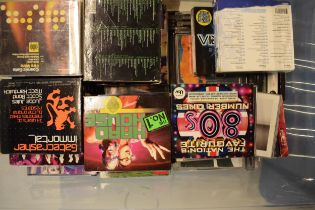 A large collection of music CDs to include a wide span of genres to include 80s, techno, Ibiza